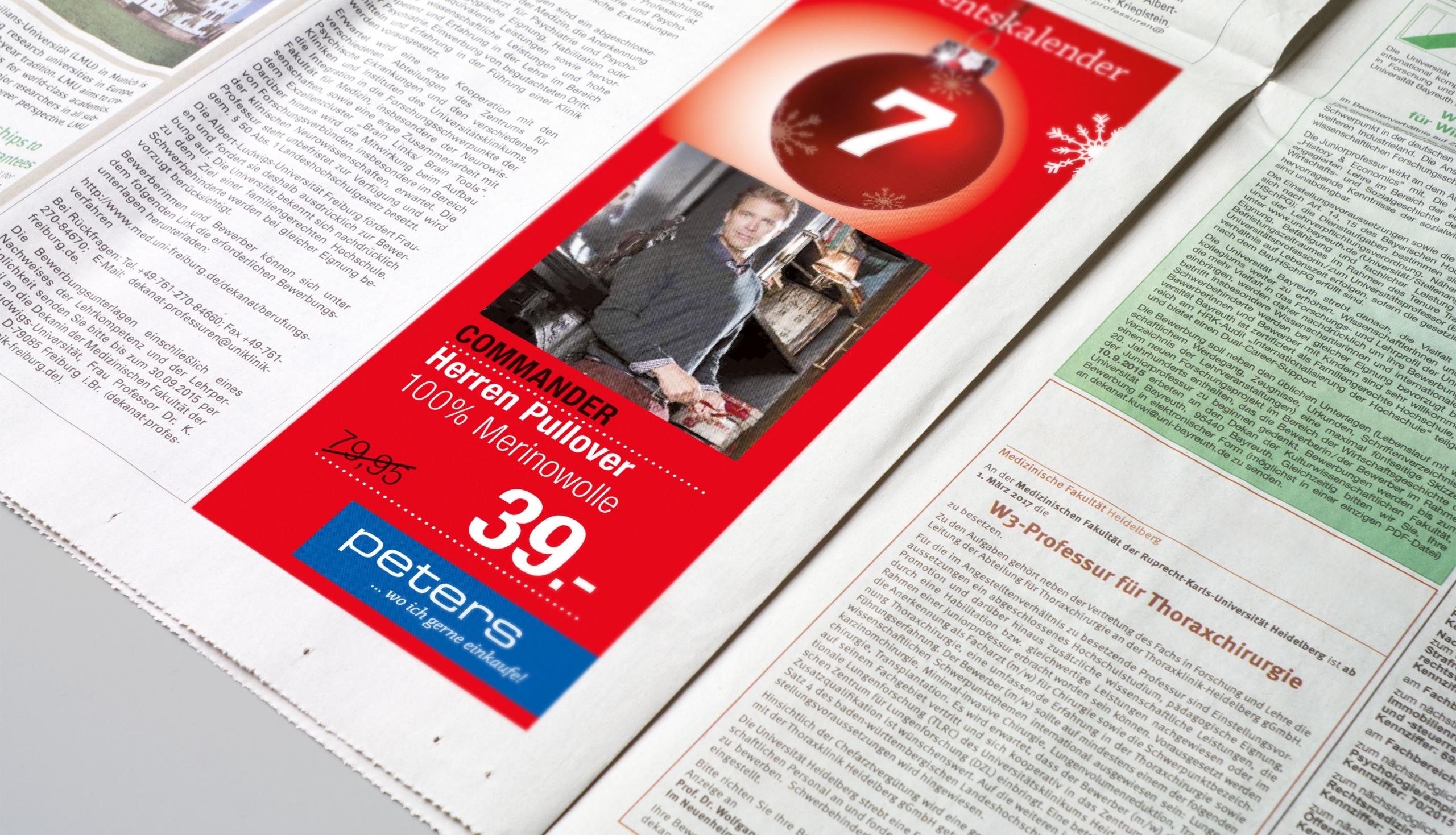 Werbung und Kundenmagazin für Kaufhaus Peters – von stilvoll°